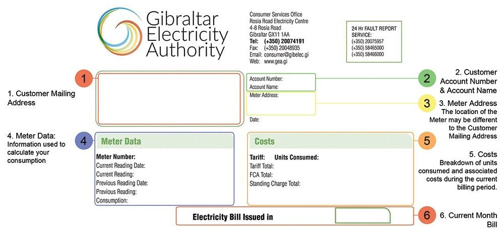 New bill formats | Gibelec