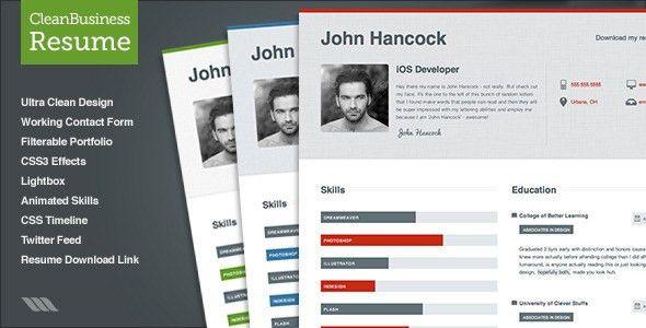responsive html5 diamond resume. sility vcard cv resume html ...