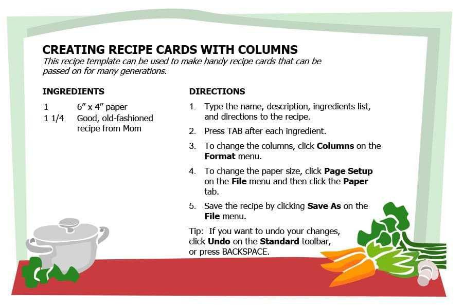 Christmas Recipe Template - Contegri.com