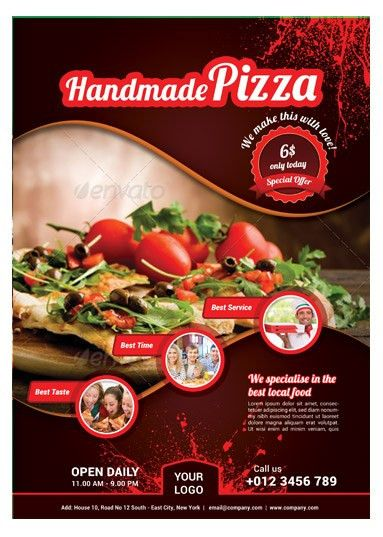 Pizza / Food Flyer Template | Arabic Vision
