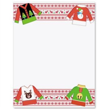 Ugly Christmas Sweater Border Papers | PaperDirect