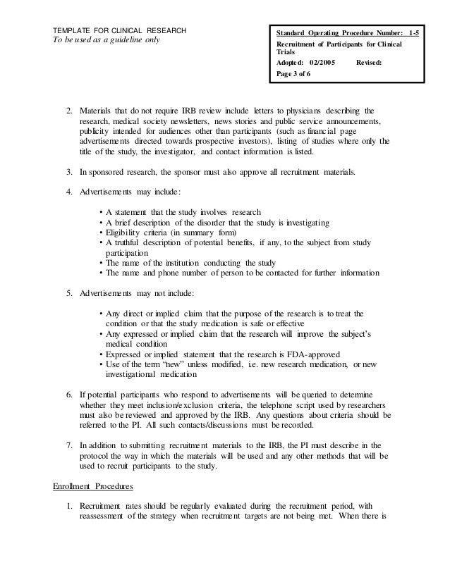 Microsoft Word - SOP-Recruitment of Participants - Research Unit.doc