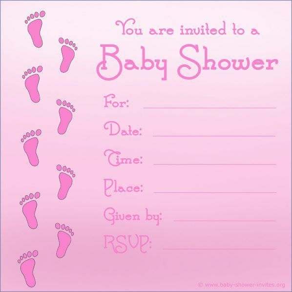 The inspiring collection of Free Baby Girl Shower Invitations ...