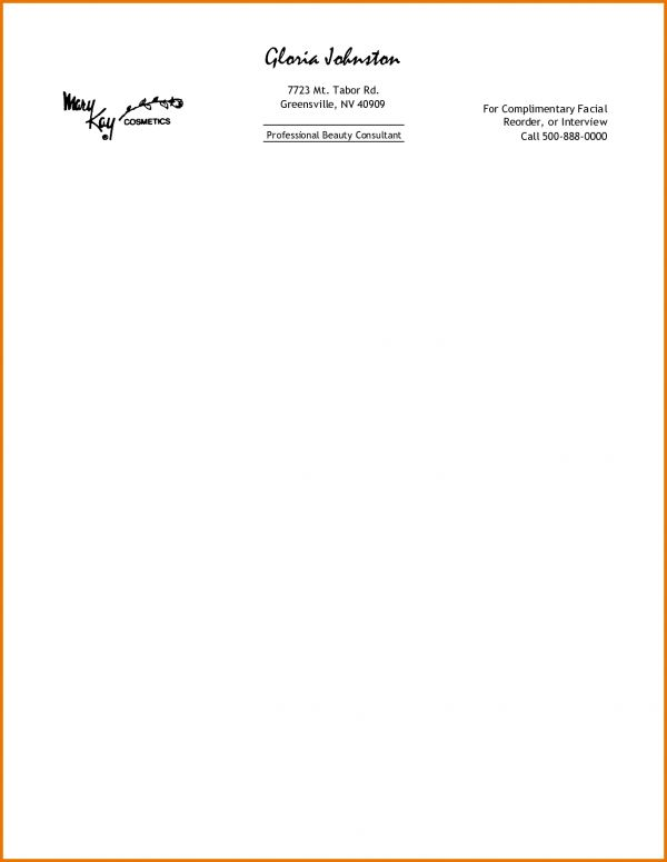 Professional Letterhead Examples.55919990.png | Scope Of Work Template