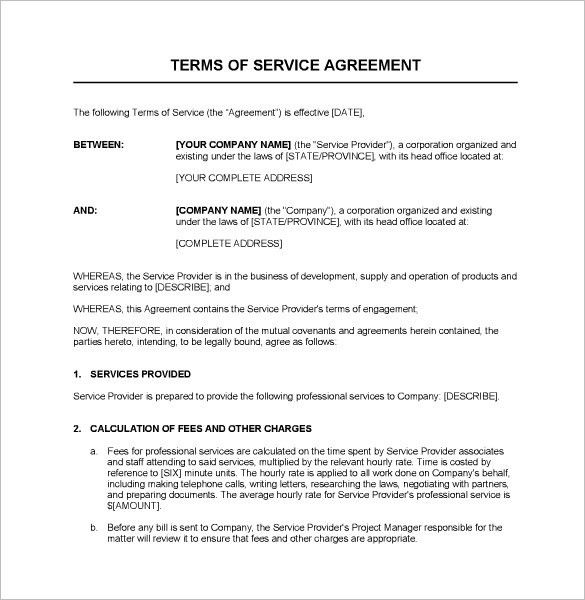 Service Agreement Template. South Africa Service Agreement Service ...