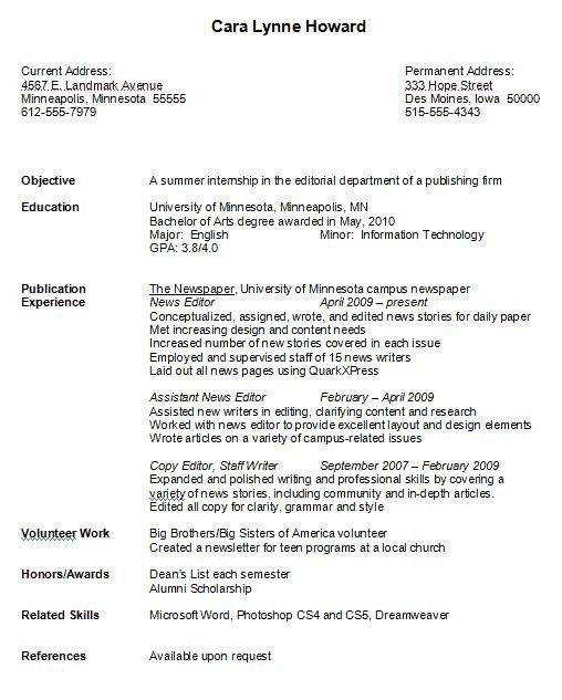 Example Of College Resume Template Learnhowtoloseweightnet 80 ...