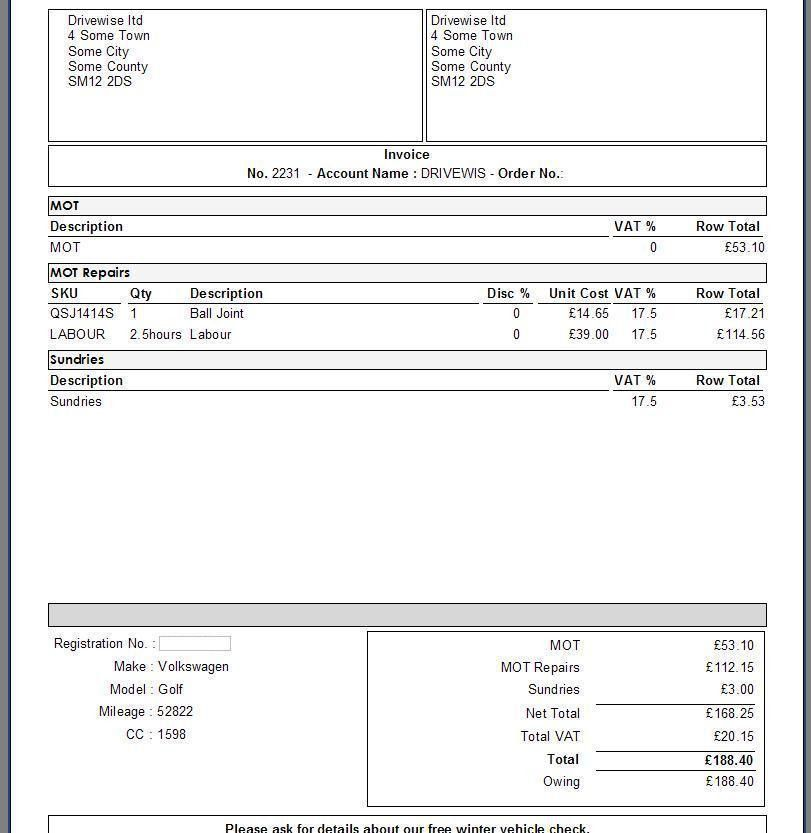 band invoice template | Free Invoice