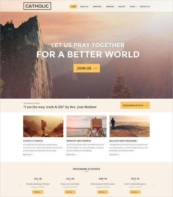 19+ Church Website Themes & Templates | Free & Premium Templates