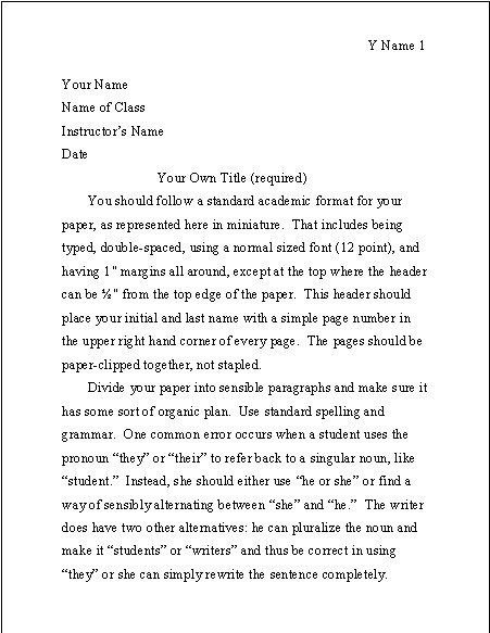 example of an essay in mla format