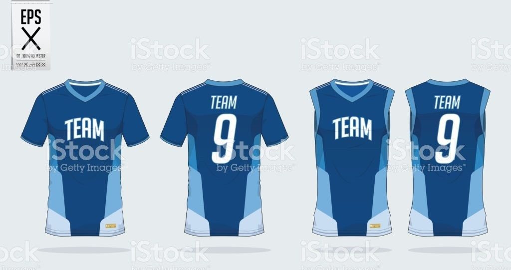 Tshirt Sport Design Template For Soccer Jersey Football Kit And ...