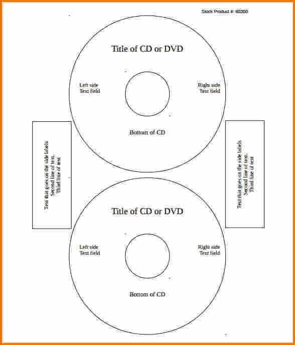 cd label template word