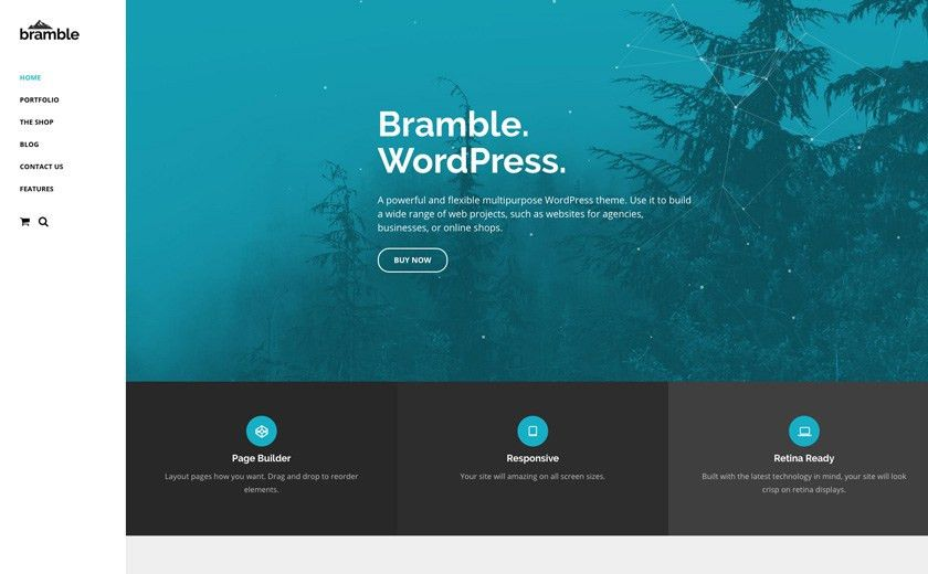 The Best WordPress Themes & Website Templates - Bramble Multi ...