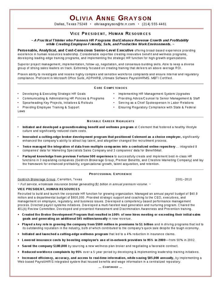 Executive HR Resume - Hashdoc