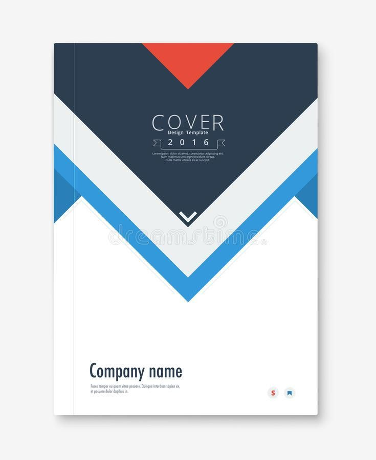 Annual Report Cover Design. Book, Brochure Template With Sample ...
