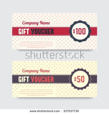 Vintage Gift Voucher Design Voucher Template Stock Vector ...