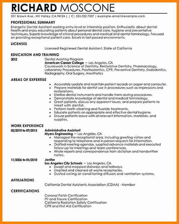 4+ dentist resume examples - mail clerked