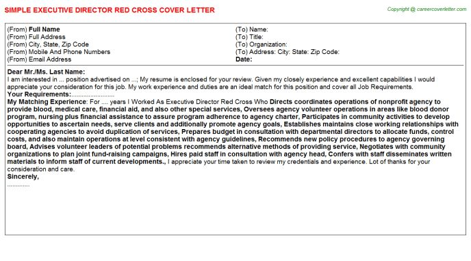 Executive Director Red Cross Cover Letter