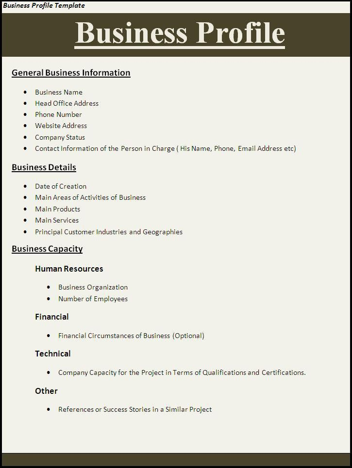 Business Profile Template | Professional Word Templates