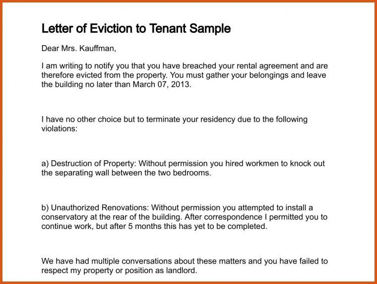 eviction notice letter | general resumes
