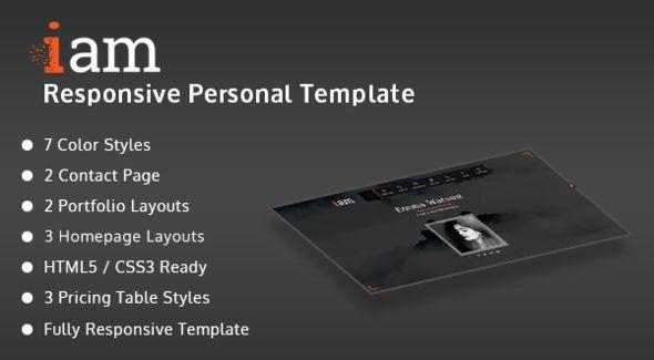 iam - Resume / Portfolio / Personal Responsive HTML Template by ...