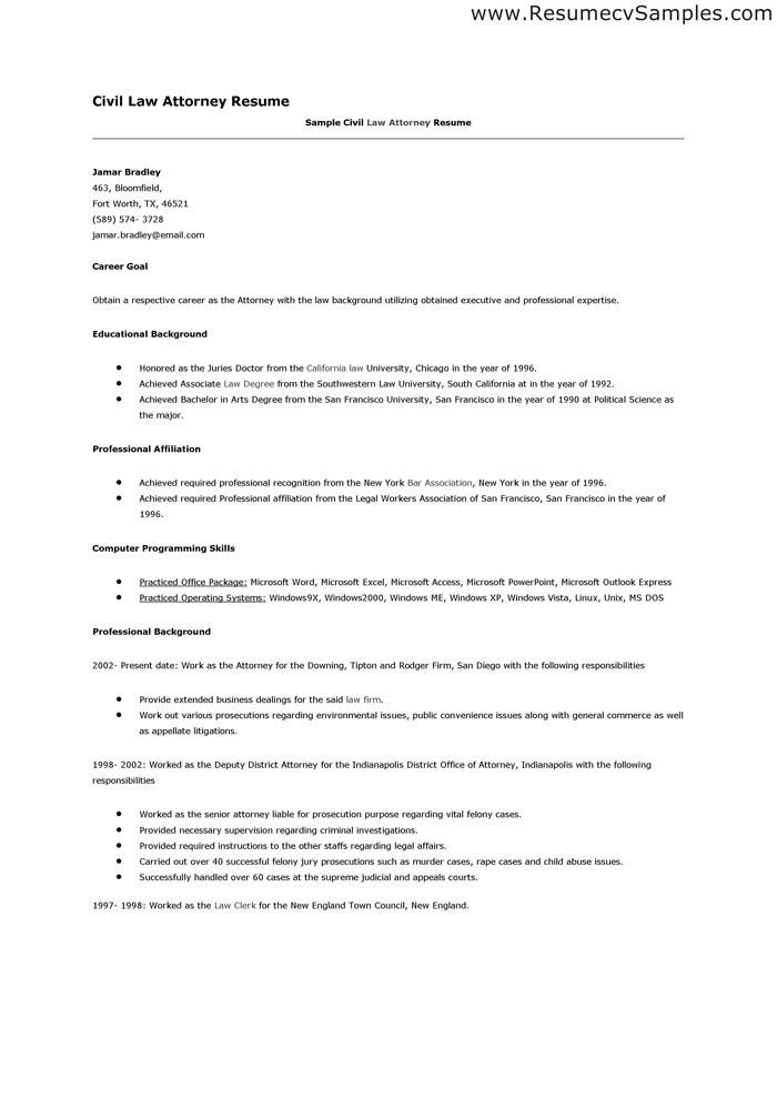 Lawyer Resume Template. Free Resume Template Microsoft Word ...
