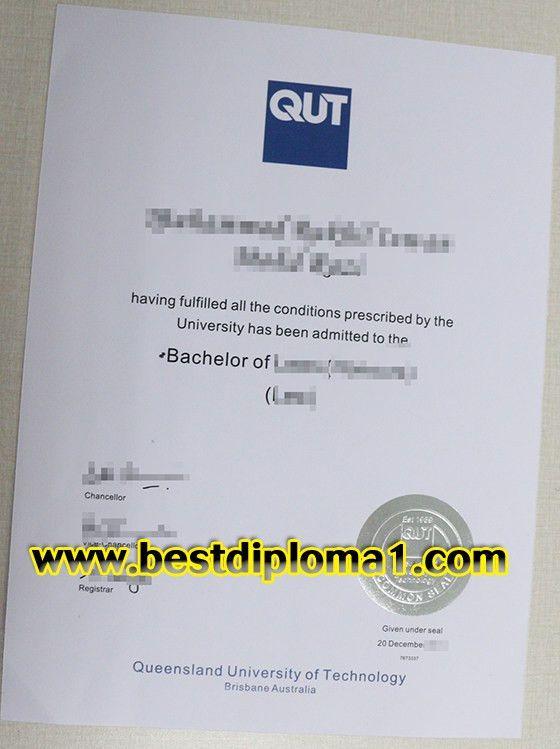 Buy Queensland University of Technology (QUT) fake diploma_buy ...