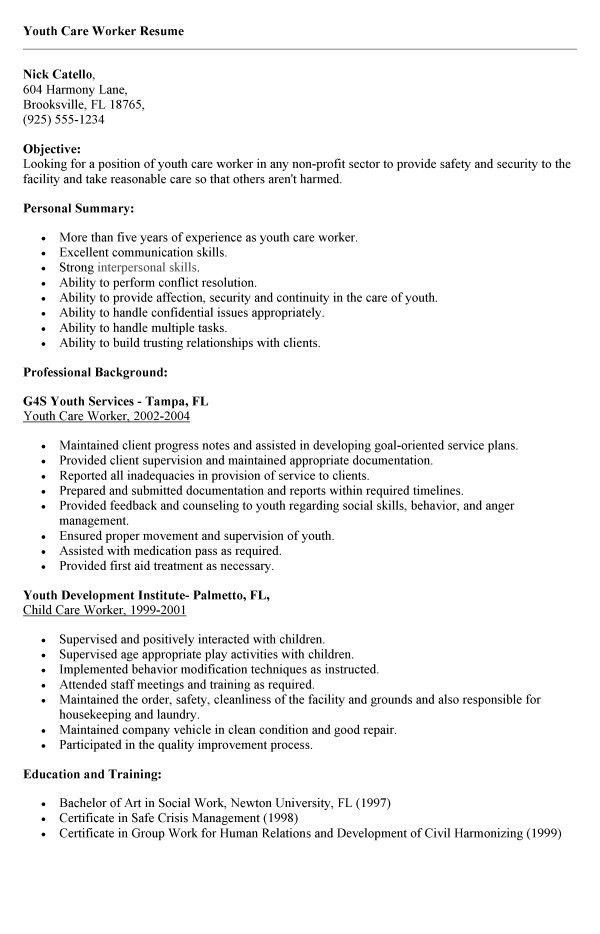 teen resume templates resume cv cover letter. youth worker resumes ...