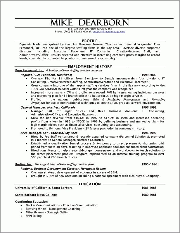 Executive Resume Sample - Powerful Executive Resumes - Sample ...