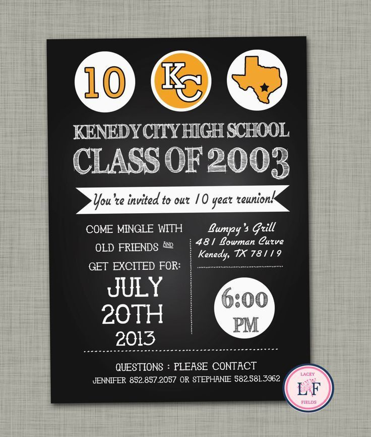 12 best Invitations for a High School Reunion images on Pinterest ...