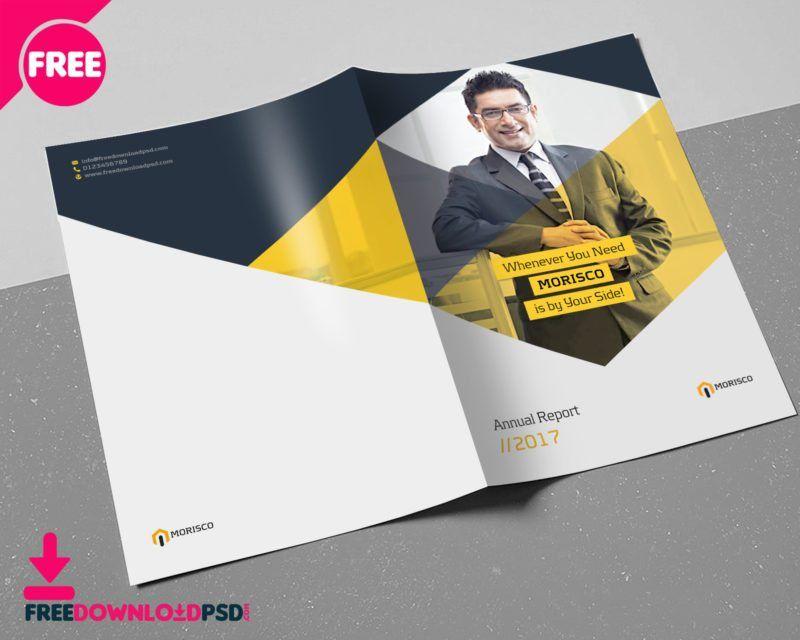 Annual Report Brochure Template   FreedownloadPSD.com