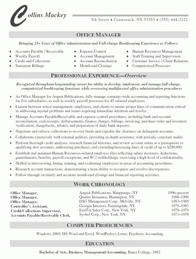management resume format restaurant manager resume samples free ...