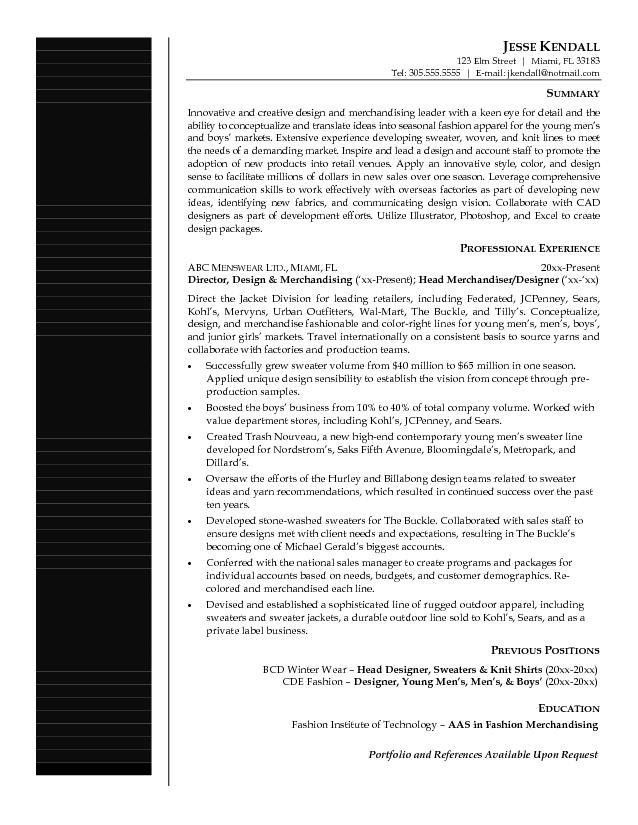 merchandising resume samples merchandiser resume example sample