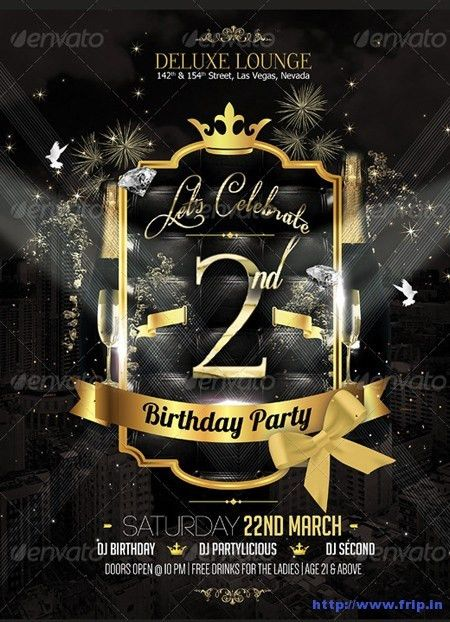 free templates for bday party flyer | 44). Birthday Party Flyer ...
