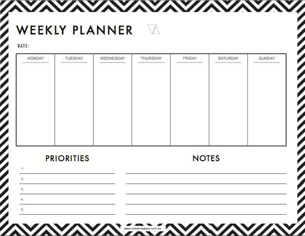 18+ [ Excel List Templates ] | 6 Weekly Planner Templates Word ...