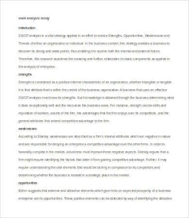 Analysis Essay Template - 7+ Free Sample, Example, Format | Free ...