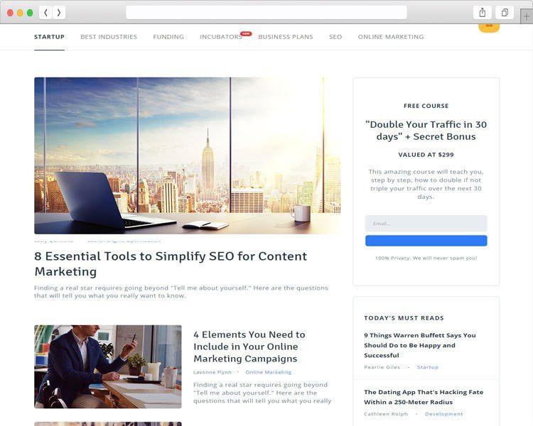 65+ Best Blog Magazine Html Website Templates Free & Premium ...