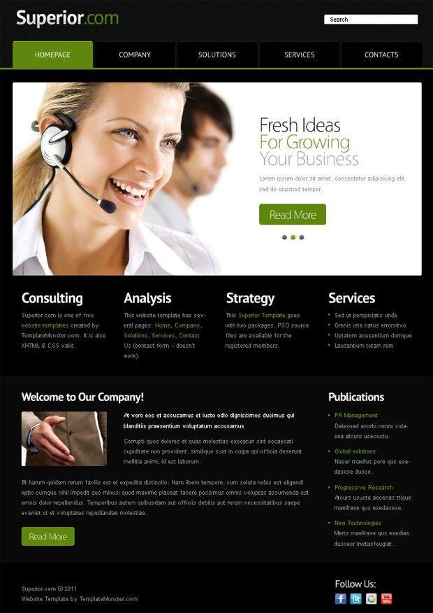 Simple website templates free simple web templates free website 10 best images of simple business website templates business pronofoot35fo Image collections