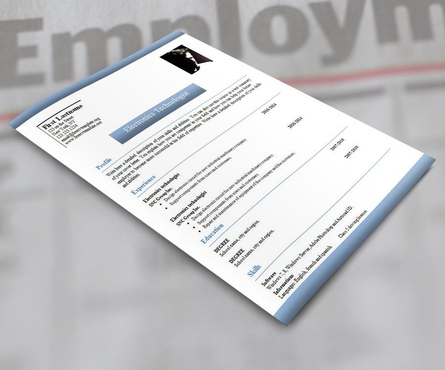 stand out cv design cv template in word and powerpoint matching ...