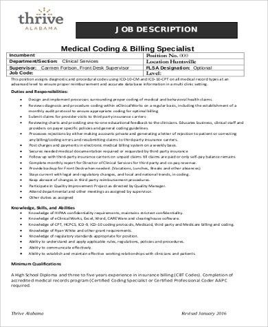 Exceptional Medical Coding Job Description Sample   9+ Examples In Word, PDF