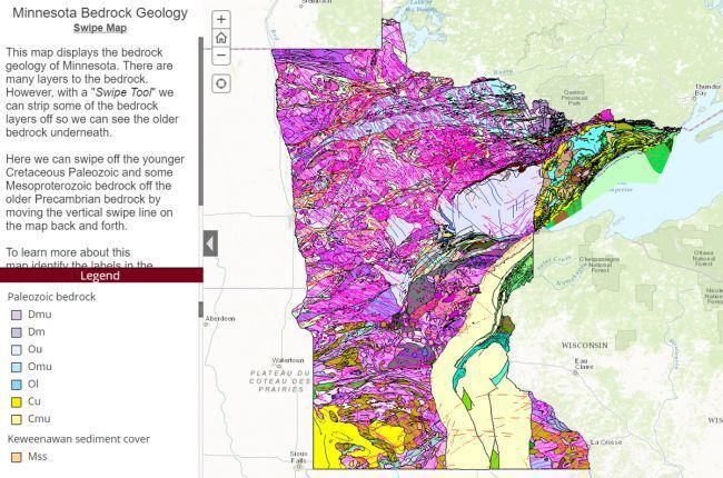 Interactive map of Minnesota's bedrock geology | American ...