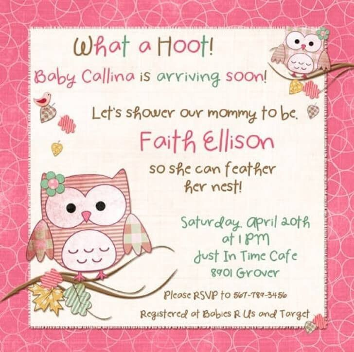 Baby Shower Invitations For Word Templates - Party XYZ