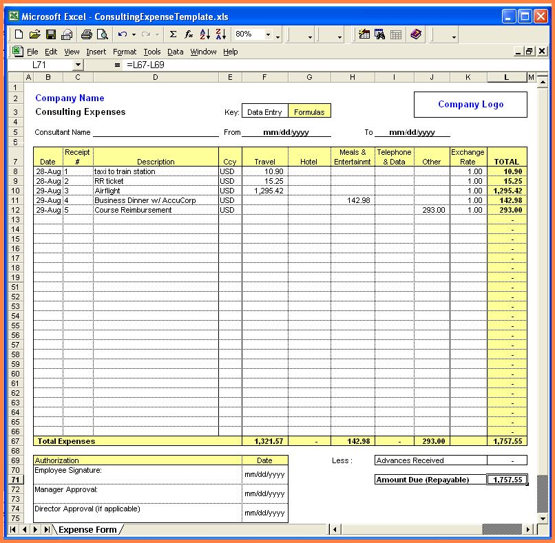 7+ excel spreadsheet template for expenses | Excel Spreadsheets Group
