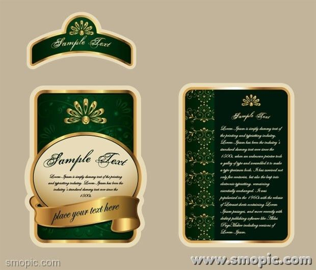 Vector beer bottle label design template EPS template for free ...