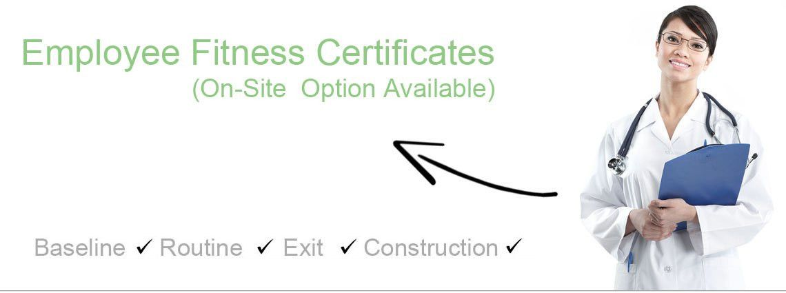 Employee Fitness Certificates Done On-Site