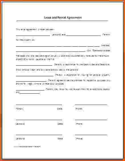 6+ rental lease agreement template word | Survey Template Words