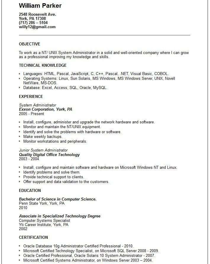 Solaris Administration Sample Resume 20 Senior Web Developer ...