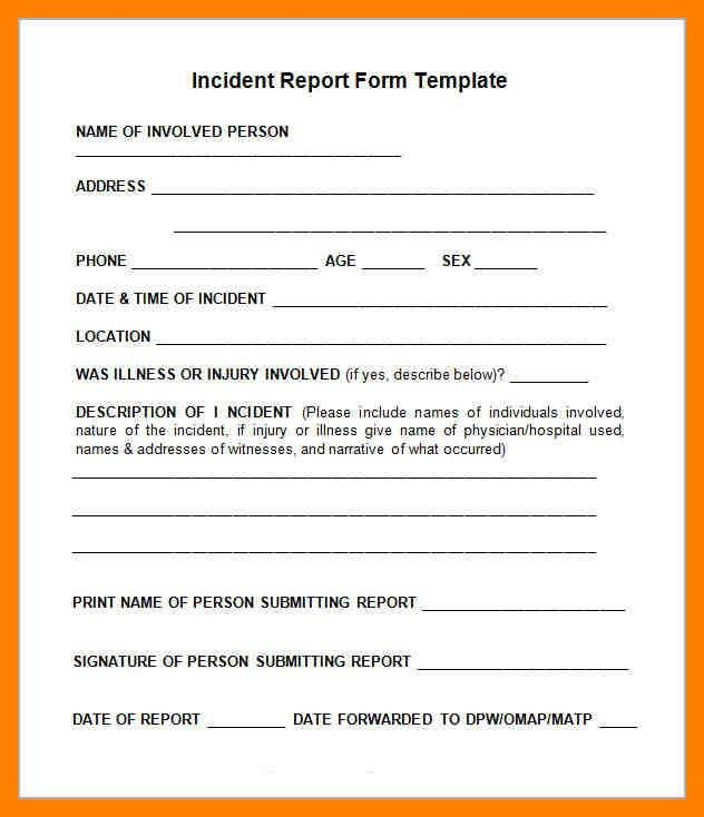 5+ Incident Reports Templates | Emt Resume