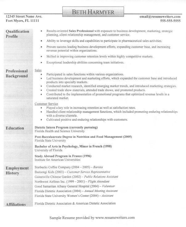 21 best Sample Resumes images on Pinterest | Sample resume, Resume ...