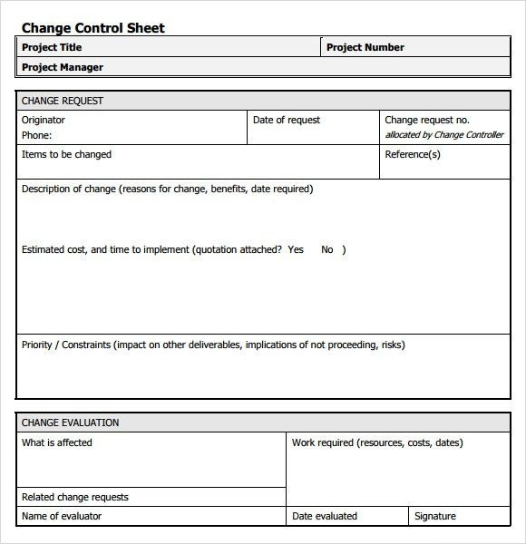 Sample Change Request - 7+ Documents in PDF , Word