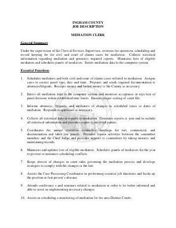 File Clerk Job Description Resume. clerical resume templates ...